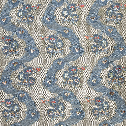 upholstery fabric / for curtains / patterned / silk