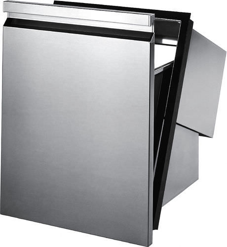kitchen trash can / hygienic / built-in / stainless steel