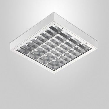 surface mounted light fixture / LED / square / tempered glass facing