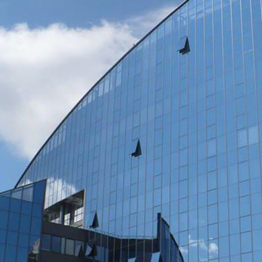 panel curtain wall / aluminum and glass / with integrated insulation