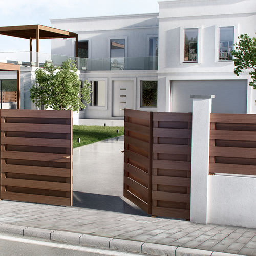 garden fence / with panels / aluminum