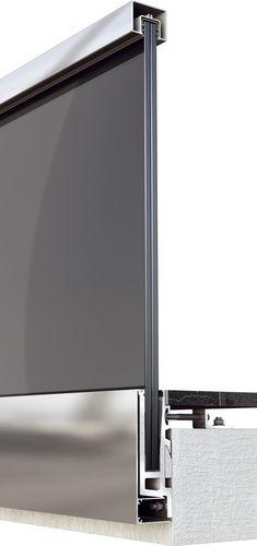 aluminum railing / glass panel / indoor / outdoor