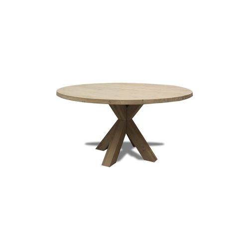 contemporary dining table / oak / walnut / MDF