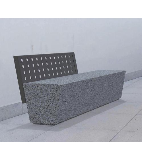 public bench / contemporary / steel / granite