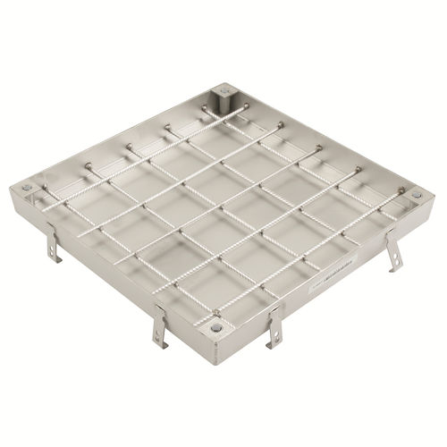 stainless steel manhole cover / square / prefab
