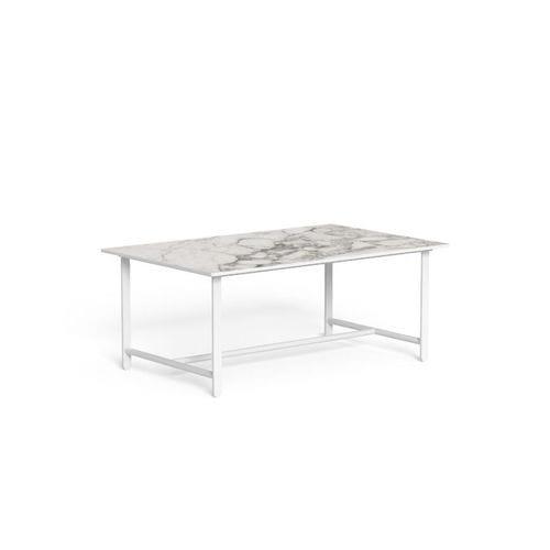 Contemporary Coffee Table Riviera By Jean Philippe Nuel Talenti Aluminum Aluminum Base Rectangular