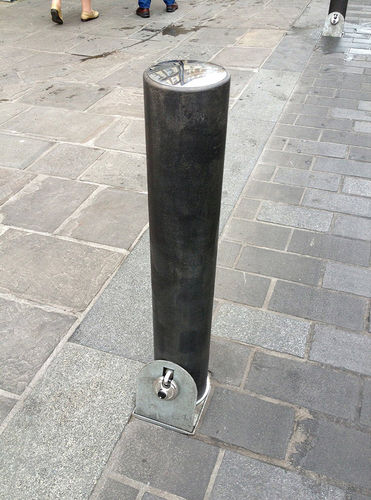 security bollard / metal / removable / high