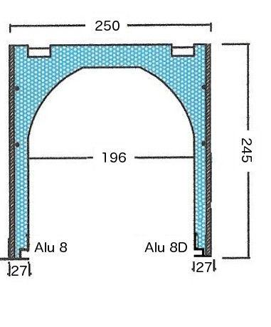 polystyrene roll-up shutter lintel / expanded EPS / for roller shutters