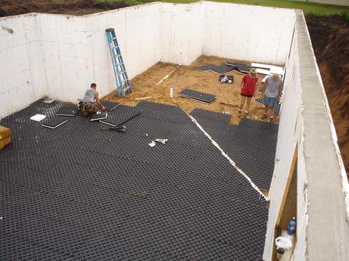 rubber raised access floor