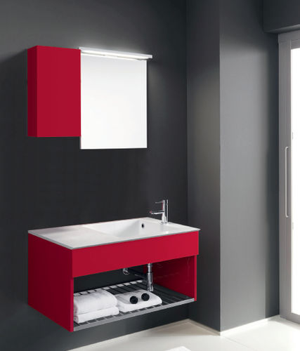 wall-hung washbasin cabinet / ceramic / contemporary