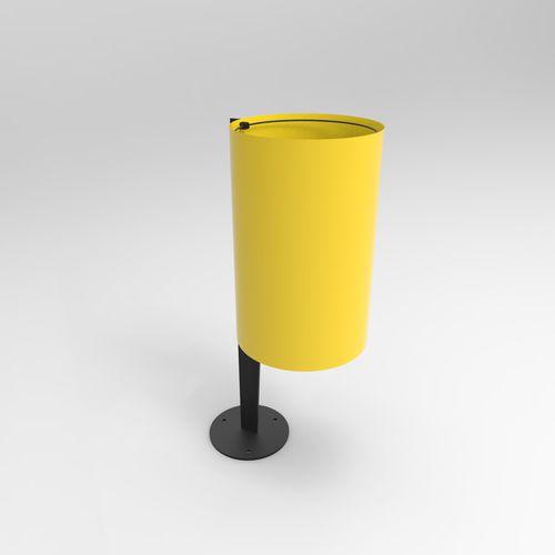 public trash can / floor-standing / metal / contemporary