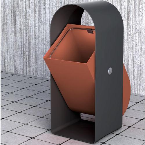 public trash can / metal / contemporary / for public spaces