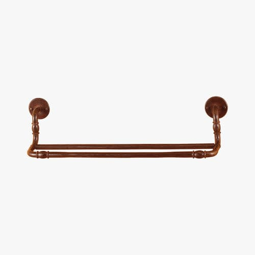 2-bar towel rack / wall-mounted / wrought iron