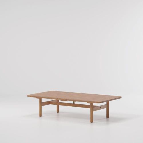 contemporary coffee table / teak / marble / rectangular