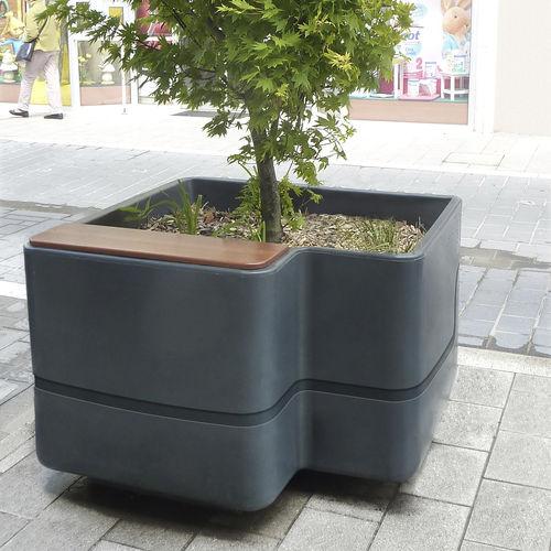 wooden planter / polyethylene / contemporary / for public spaces