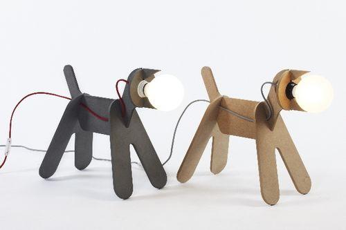 table lamp / original design / wooden