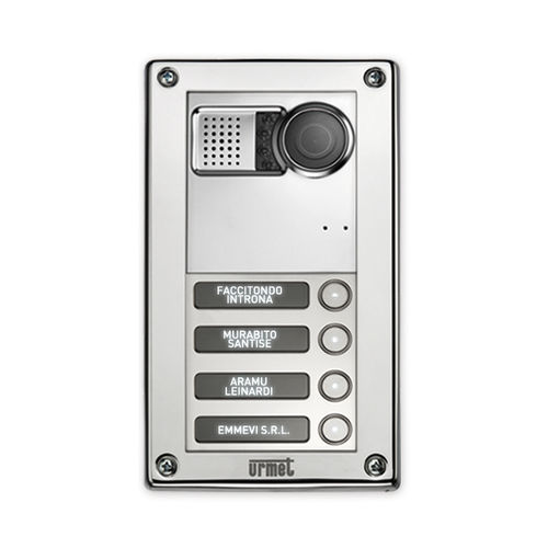door station with camera / vandal-proof / modular / stainless steel