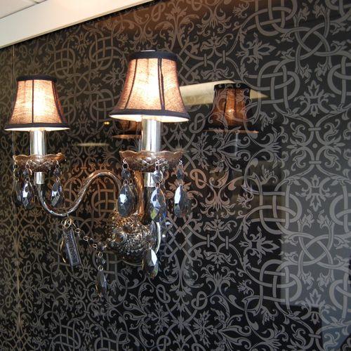 laminated glass panel / double-glazed / insulating / patterned