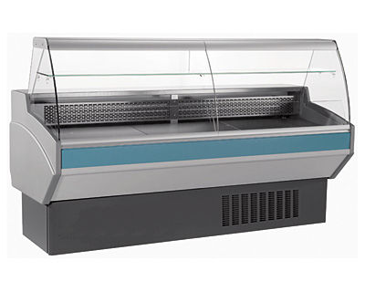 refrigerated display counter / for shops