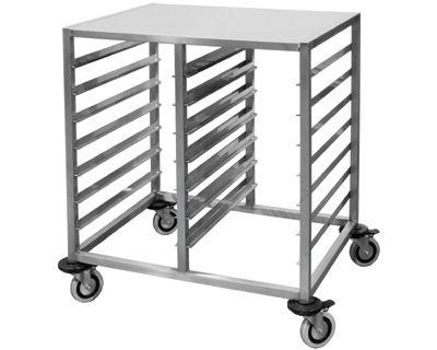 food tray trolley / commercial / stainless steel
