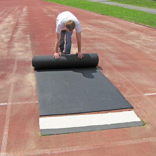 rubber sports flooring / polyurethane / for outdoor use / athletics