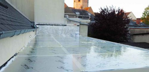 thermal insulation / polyisocyanurate (PIR) foam / polyurethane / for roofs