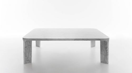 contemporary coffee table / marble / square / by James Irvine