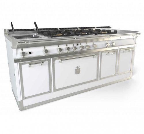 gas range cooker / electric / commercial / cast iron