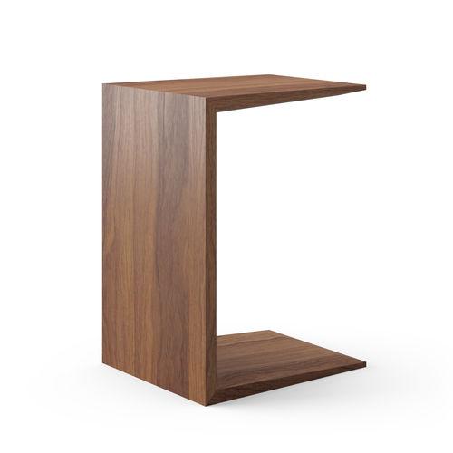 contemporary side table / American walnut / natural oak / rectangular
