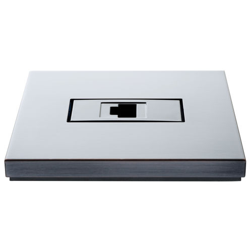 data socket / wall-mounted / brass / contemporary