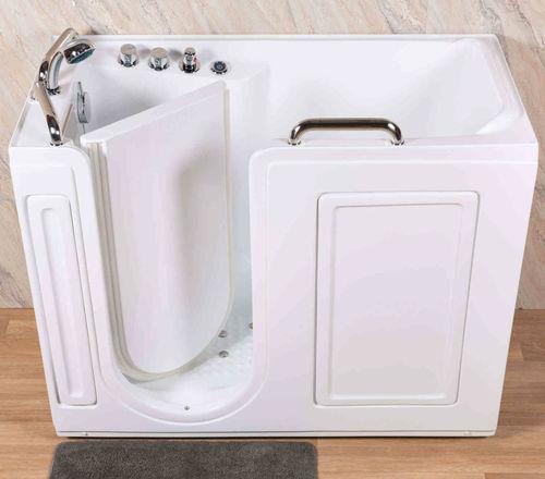 free-standing bathtub / corner / acrylic / ABS