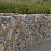 limestone wall cladding / exterior / decorative