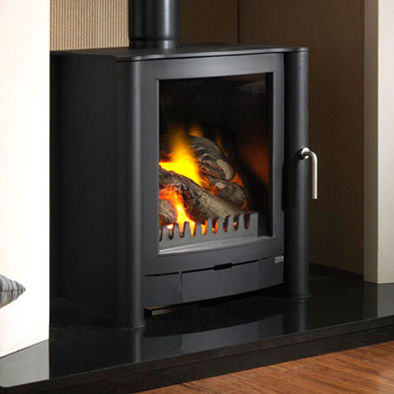 wood heating stove / contemporary / metal