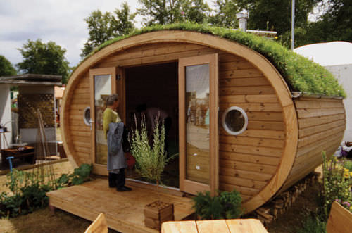 prefab micro-house / contemporary / energy-efficient