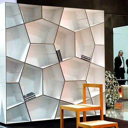 original design bookcase / aluminum / by Alfredo Häberli