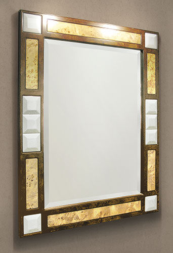 Wall Mounted Bathroom Mirror Tuscania Etruria Traditional Rectangular Wooden