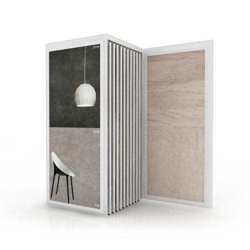 tile display rack / wooden / panel / for shops