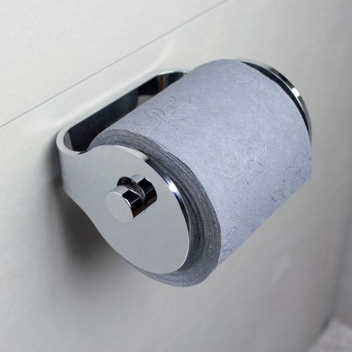 wall-mounted toilet roll holder / aluminum / commercial