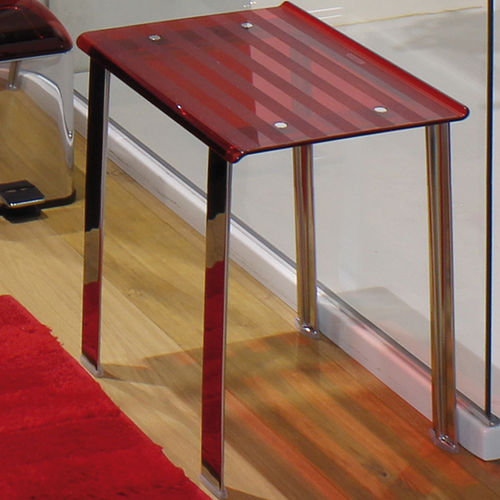 contemporary stool / aluminum / stainless steel / polycarbonate