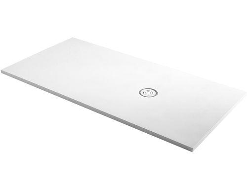 rectangular shower base / floor level / composite / extra-flat