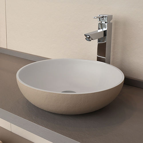 countertop washbasin / round / composite / contemporary