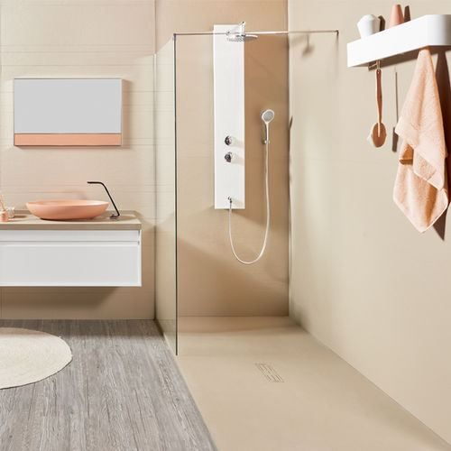 rectangular shower base / ready-to-tile / composite / extra-flat