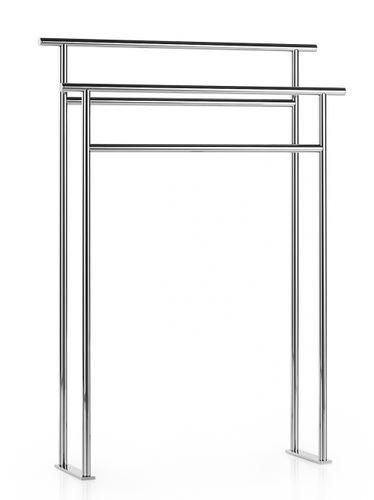 ladder towel rack / floor-standing / brass