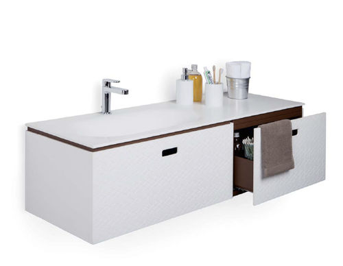 bathroom column cabinet / contemporary / mirrored