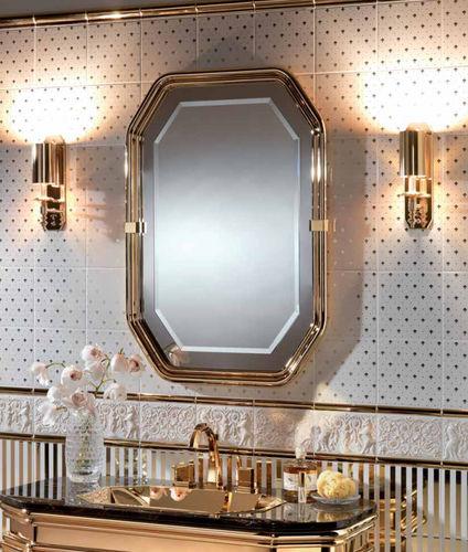 Wall Mounted Bathroom Mirror Specchi Petracer S Ceramics Illuminated Contemporary Rectangular