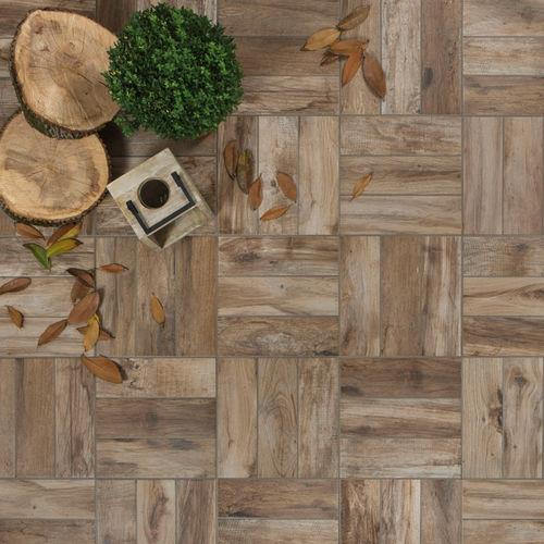 outdoor tile / for floors / porcelain stoneware / patterned