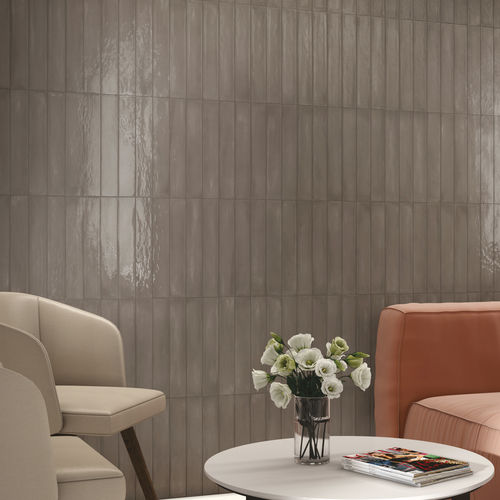 indoor tile / wall / porcelain stoneware / rectangular