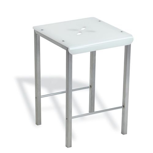 contemporary stool / stainless steel