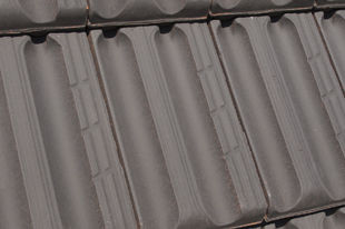 french roof tile / clay / gray / enameled