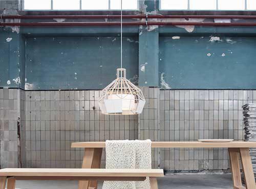 pendant lamp / original design / wooden